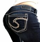SILVER JEANS New Super Low Studded Tuesday Bootcut Jean 25 26 27 28 29 30 31 38