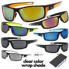 Men's Xloop Clear Color Frame Sports Wrap Small Face Biking Golf Sunglasses
