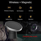 360° Qi Wireless In Car Charger Magnetic Air Vent Mount Holder Stand For Samsung