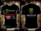 HONDA RACING TEAM 2017 MONSTER ENERGY R601 Many Size Black T Shirt Best Product