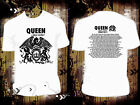 White T Shirt QUEEN & ADAM LAMBERT TOUR DATES 2017 R206 Many Size Available