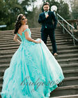 Mint Green Unique Ball Gown Quinceanera Dresses Lace Prom Dresses Wedding Dress