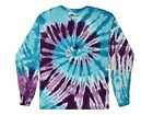 Barbados Long Sleeve Tie Dye T-Shirt Adult S - 3X 100% Pre-Shrunk Cotton Hanes
