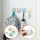 4Pcs Plastic  Square Kitchen Bathroom Strong Self Adhesive Hooks Wall Hanger