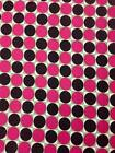 "Rose and Hubble Cotton Cerise and Brown Large Spot Fabric, 45"" wide £4.95 p m"
