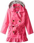 Pink Platinum Little Girls Classic Trench Jacket with Satin Lining
