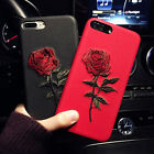 Korean Chic Embroidery Rose Luxury Hard Case Cover For iPhone 6s Plus 7 7Plus