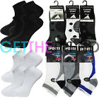 12 Pack Mens Womens Plain Socks Trainer Boot Invisible Ankle Footwear Multipack
