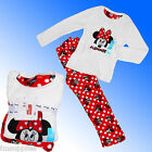 Girls Authentic Official Disney Minnie Mouse Pyjamas  Fleece Age 7-13 Years