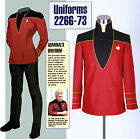 Star Trek Admirals Uniform Jacket Pants Full Set Halloween Cosplay Costume