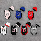 Внешний вид - BABY JORDAN 23 ROMPER +HAT NEWBORN BOY GIRL BABYGROW OUTFITS CLOTHES