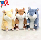 Adorable Mimicry Pet Speak Talking Record Hamster Mouse Plush Kids Baby Toys US