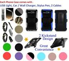 for Samsung J7 Prime On Nxt On7 Prime G610 Clip Holster Case 2 KickStand Cover +