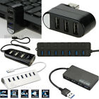 USB 2.0/3.0 Multi HUB Splitter Expansion Cable Adapter 3/4/7 Port For Laptop PC