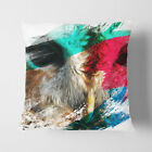 Faux Suede Throw Scatter Cushion Barn Owl (2) V2