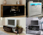 Wood TV Stand Sideboard TV Unit Cabinet With Drawers Shelf Black Walnut White