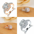 Sale Charm Women Ring Square Zircon Crystal Wedding Finger Ring Jewelry