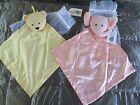 NWT North American Bear Co PINK ELEPHANT or YELLOW BEAR Security BLANKIE LOVEY