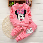 Toddler Baby Kid Girls Clothes Minnie Mouse T Shirt Top Dress Pants Outfits Set