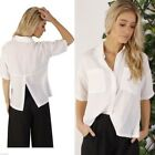 NEW AJOY Crisp White Blouse Womens Size 8 10 12 14 Light Weight Top