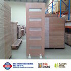 5S TRANSLUCENT Glass French Solid Timber Doors Hardwood Front Entry 2340mm