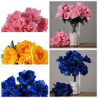 4 Silk Peony BUSHES Wedding Party Artificial FLOWERS Centerpieces WHOLESALE