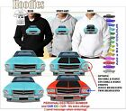 71-74 HQ HOLDEN SEDAN FRONT ON IMAGE HOODIE ILLUSTRATED CLASSIC RETRO MUSCLE CAR