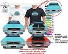 CLASSIC 71-74 HQ HOLDEN SEDAN FRONT & BACK ILLUSTRATED T-SHIRT MUSCLE RETRO CAR