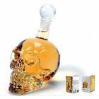 Crystal Skull Head Vodka Decanter Liquor Glass Wine Bottle 350/1000 Ml