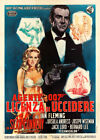 Dr No James Bond Vintage Italian Movie Poster $153.13 AUD