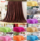 Super Soft Flannel Blanket Throws Single Queen King Bed Sofa Blanket Lot Size image