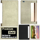 PREMIUM LIGHT GOLD FLIP TABLE TALK COVER CASE For iBall Slide Brace X1 4G Tablet