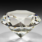 Crystal Clear Paperweight Faceted Cut Glass Giant Diamond Jewelry Decor Craft