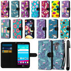 For LG G4 H815 F500 VS986 H810 Pattern Design Canvas Wallet Case Cover + Pen