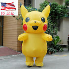 Inflatable Pokemon Pikachu Adult Mascot Party Cosplay Costume Outfit US Seller