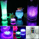 Waterproof LED Multicolor Submersible Party Vase Base Light Lamp Remote Control
