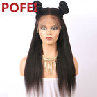 Kinky Straight Pre-plucked 360 Lace Frontal Wig Brazilian Human Hair 180%density