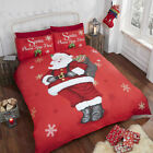 Santa Stop Here Christmas Duvet/Quilt Cover With Pillow Cases