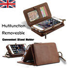 Leather Flip Card Purse Phone Case Cover for iPhone6 7 Plus Samsung S8 Plus #Y