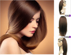 Long Straight 100% Real human hair half wig for 3/4 Half head Wigs Easy to use