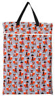 1 Large Hanging Wet Dry Pail Bag Cloth Diaper, Insert, Nappy, Reusable Laundry, Fox