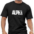 ALPHA Men's Gym Weightlifting Body Building MMA Black T Shirt