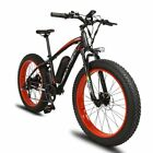 1000W 48V Electric Mountain Bike Fat eBike Snow Cruiser Bicycle 7 Speeds 4.0x26""
