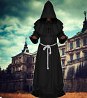 Cosplay Medieval Hooded Monk Renaissance Priest Cloak Halloween Costume Men