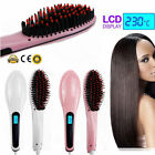 Electric Hair Straightener Comb Irons Brush Thermostatic Ceramic Beauty #DY  UK