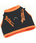 Harley-Davidson Pet Vest Style Dog Harness , Black w/ Orange Trim