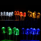 50pcs 10mm 2pin Round Water Clear Round LED Light Lamp Ultra Bright WS