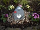 Mam Memorial Stone Heart and Flowervase Holder with Heart Shaped Plaque and Rose