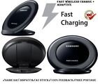 Samsung Galaxy Fast Qi Wireless Charger BLACK Stand Dock S7/S7edge/Note Note5 S6
