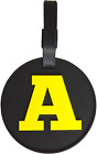 Large Luggage Tag 3-D Initial Alphabet Letter Heavy Duty Indestructible Bag Tag